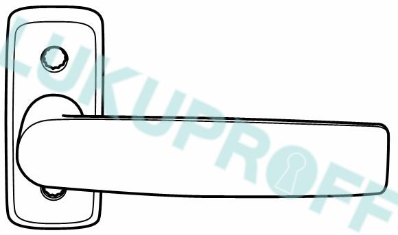 UKSELINK DORMA DH7293 CR PROFIILUKSELE 38-85MM