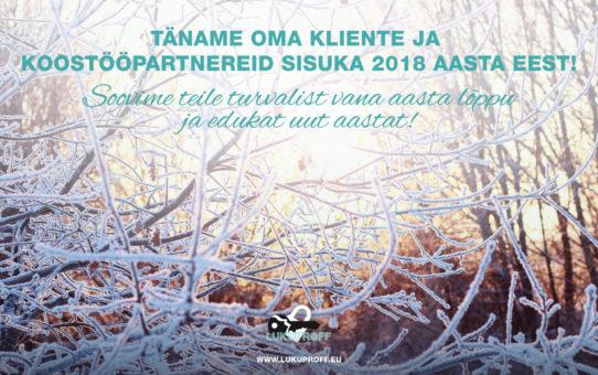 Turvalist vana-aasta lõppu ja edukat uut aastat!